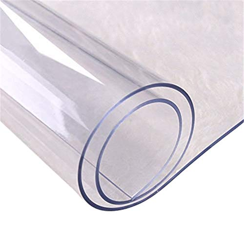 S-tubit Mantel de PVC Transparente de Varios tamaños Protector de sobremesa Transparente de Bricolaje Cocina Comedor Alfombra de Mantel Resistente al Calor 70 70 cm Expert