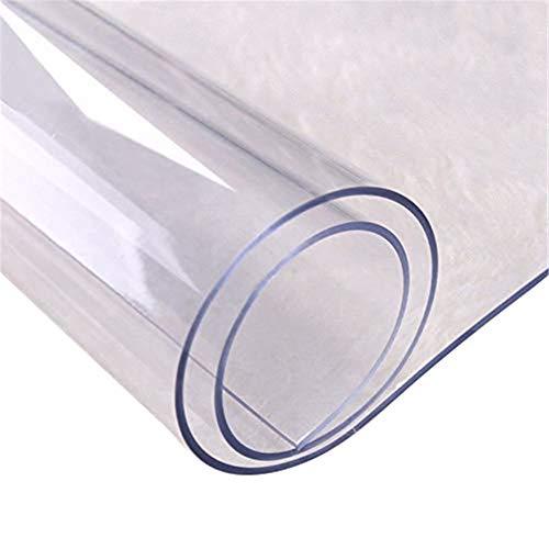S-tubit Mantel de PVC Transparente de Varios tamaños Protector de sobremesa Transparente de Bricolaje Cocina Comedor Alfombra de Mantel Resistente al Calor 70 130 cm Dependable
