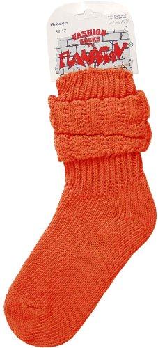 FLANAGAN Dicke warme flauschige Schoppersocken - Stulpensocken - orange