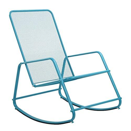 Lazy schommelstoelen balkon schommelstoel blauw/rode Scandinavische vrije tijd Siesta Recliner outdoor eenvoudige stoel tuinmeubilair metalen stoel