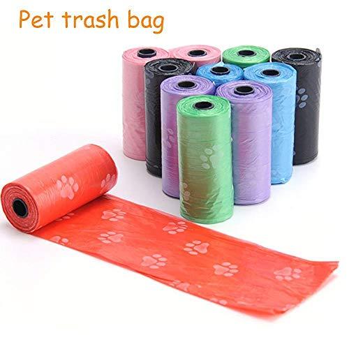 SHAOLIN 10 Rollen = 150 Stück Müllsäcke für Tierdung, abbaubare Müllsäcke für die Reinigung von Toilettenabfällen, Werkzeuge zum Sammeln und Reinigen von Katzen- und Hundemist im Freien