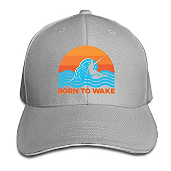 Wakeboard Sandwich Cap Baseball Cap Hats Adjustable Trucker Cap Gray