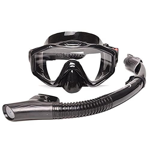 GQTYBZ Juego de Snorkel Premium, MáScara de Buceo para Adultos con Snorkel, Gafas de NatacióN de Silicona de Vidrio Templado, MáScara, Juego de Snorkel en Seco