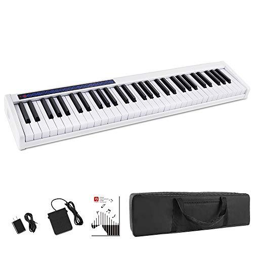 Vangoa Portable Piano Keyboard 61 Keys Rechargeable Bluetooth Digital...