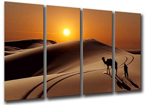 Cuadro Camara Fotográfico Paisaje Playa Desierto Tamaño total: 131 x 62 cm XXL, Multicolor
