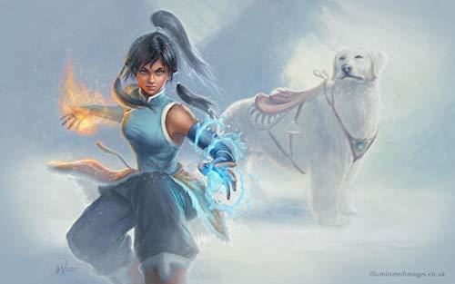 Korra and Naga poster/Avatar the Last Airbender