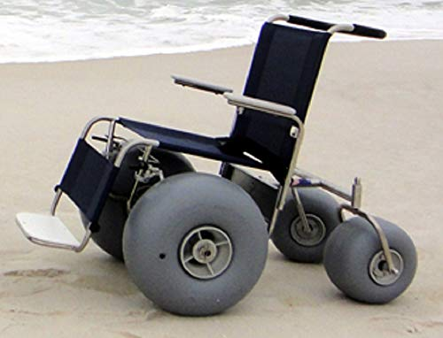 top 10 beach wheelchairs DeBug All Terrain Chair Rolling Beach Stainless Steel Wheelchair