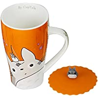 Cup Talk Cute Totoro Mug with Silicone Lid