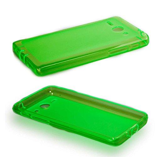 caseroxx TPU-Hülle für Huawei Ascend Y530, Handy Hülle Tasche (TPU-Hülle in grün)
