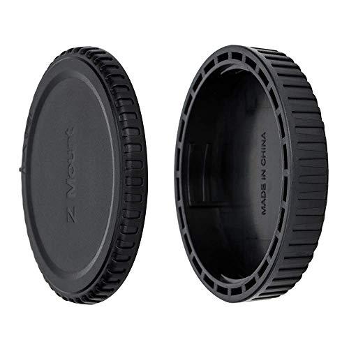 JJC Gehäusedeckel + Objektivdeckel (hinten) für Nikon Z-Bajonett System-Digitalkamera Z7, Z6, Z50 usw. und Z-Bajonett Objektiv (1 Set)