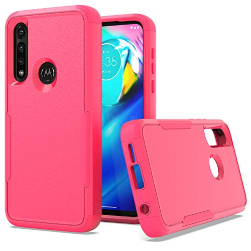 KWEICASE 2 in 1 Cell Phone Case for Motorola Moto G Power 2020, Moto G Power 2020 Case Heavy Duty Dual Layer Case, Shockproof Drop-Proof Protective Case with Strong Protection, Hot Pink