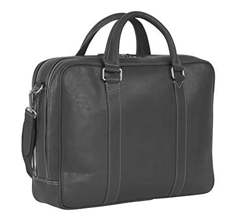 Leonhard Heyden Bergamo Zipped Briefcase 2 Black
