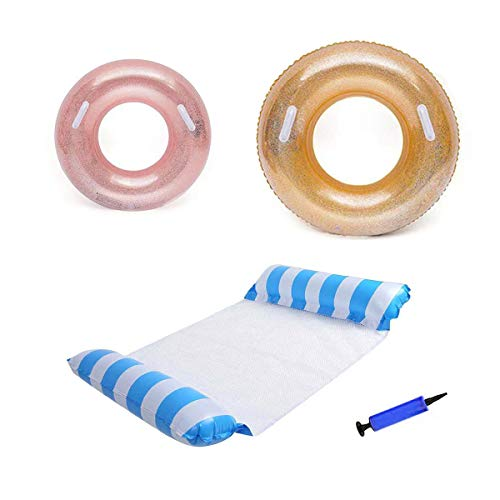 Flotadores inflables de piscina, flotadores de piscina, anillos de natación, juguetes inflables de flotador de piscina, anillos de natación para niños adultos suministros de fiesta de playa.