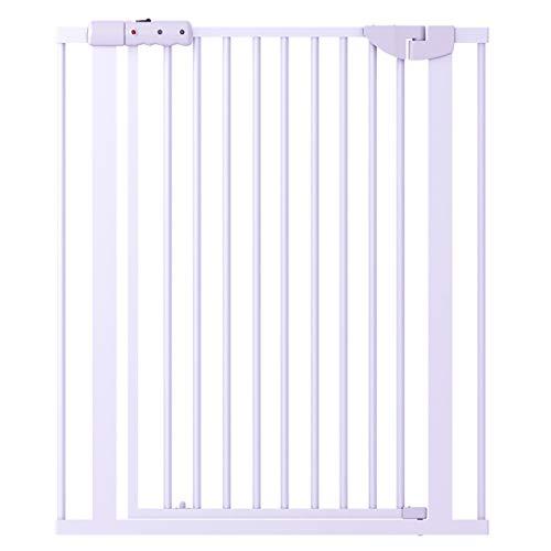 JXXDDQ Porte de sécurité Extensible multifonctionnelle en métal, Blanc, rambarde de Porte d'isolement d'animal familier de bébé (Taille : 83-89cm)