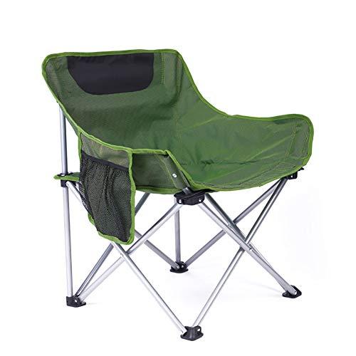 Campingstuhl Sonnenliege, tragbare Faltbare ultraleichte mit Getränkehalter, ideal für Garten/Camping/Angeln/Wandern/Picknick/Park (Farbe : Grün)