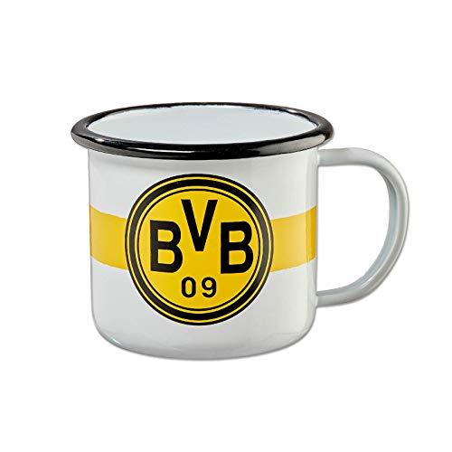 Borussia Dortmund BVB Tasse Retro emaile