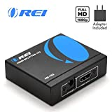 1x2 HDMI Splitter by OREI - 1 Port to 2 HDMI Display Duplicate/Mirror -...