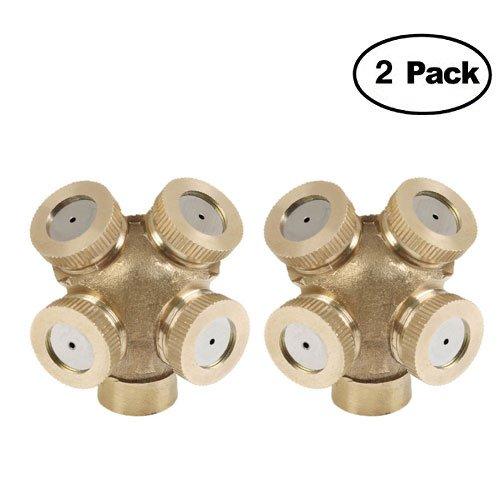 Lote 2 pulverizadores agua jardín 4 agujeros - Conexiones