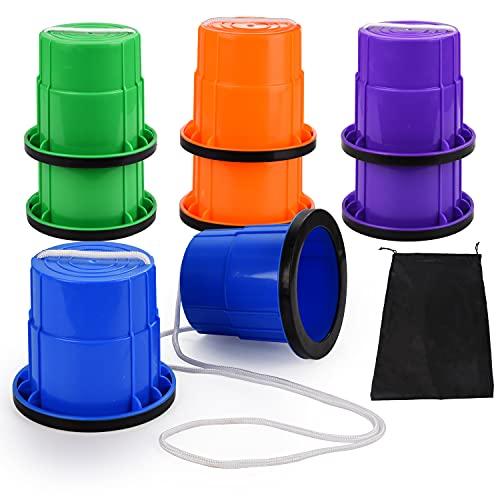 FORMIZON Zancos para Niños, 1 Par de Zancos de Plástico Zancos para Caminar con Borde de Goma Antideslizantes Tazas de Zancos Salto Zancos para Niños Equilibrio Entrenamiento Sensorial Juguetes