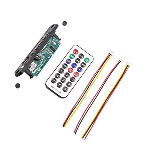 DC 12V Car Auto Mp3 Wma FM Placa de Placa de decodificador Auxiliar Módulo Udio/Tarjeta SD TF USB Radio Accesorios para Altavoces de Mp3 para Coche - Negro
