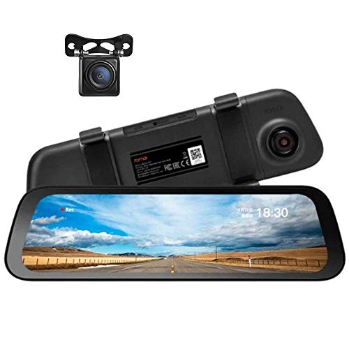 "70mai Rearview Dash Cam Wide with Night Vision HD Rear Camera, Dual Channel Recording with 9.35"" IPS Screen, 1080P Front & Rear, G-Sensor, WDR, Loop Recording, App Control"