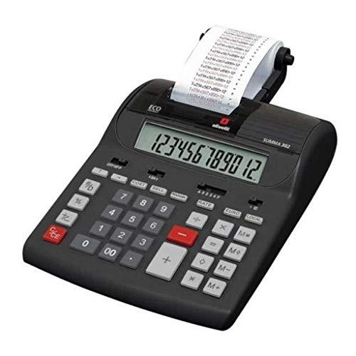 Olivetti Summa 302, Calcolatrice, Display da 12 cifre, Nero