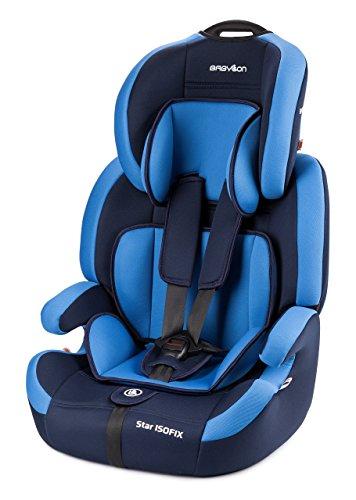 Babylon isofix universal para coche Star ISOFIX silla bebe coche para Niños 9-36 kg silla coche grupo 1 2 3 isofix, silla coche bebe ECE R44 / 04 Azul