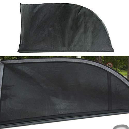 XinYuan 2pcs Car Trasero Lateral Ventana UV Sun Evite Sunshine Blocker Cover Shade Mesh Auto Exterior Sombrilla Bebé Niño Proteger 54x92cm