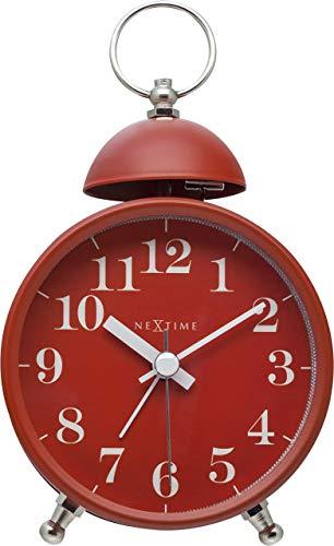 NeXtime Wecker, Metall und Kunststoff, Rot, Ø 16 cm