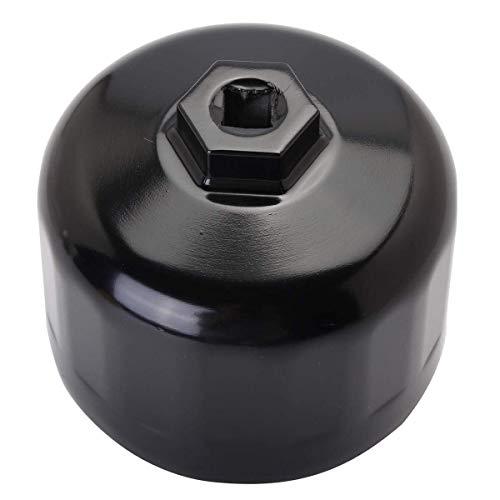 Busirsiz Llave de Filtro de Aluminio de 86mm de Aceite Llave de Tapa de la Envoltura Herramienta del removedor de Vaso Herramientas de reparación Herramientas industriales