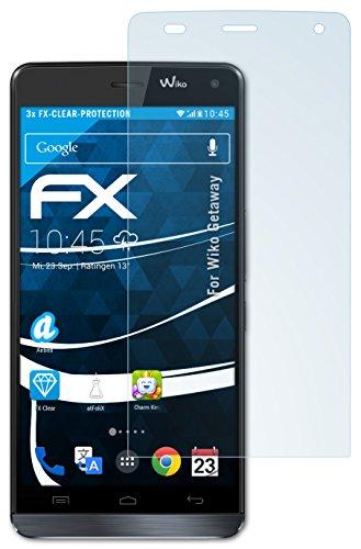 atFolix Schutzfolie kompatibel mit Wiko Getaway Folie, ultraklare FX Bildschirmschutzfolie (3X)