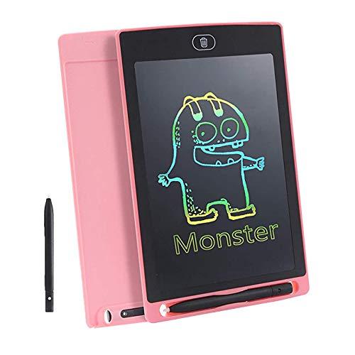 LTLWL Tableta De Escritura LCD, Tablero De Escritura Portátil De 8.5 Pulgadas Tablero De Dibujotableta Gráfica Electrónica, Adecuado para El Trabajo En El Hogar Oficina De La Escuela, Negro,Rosado