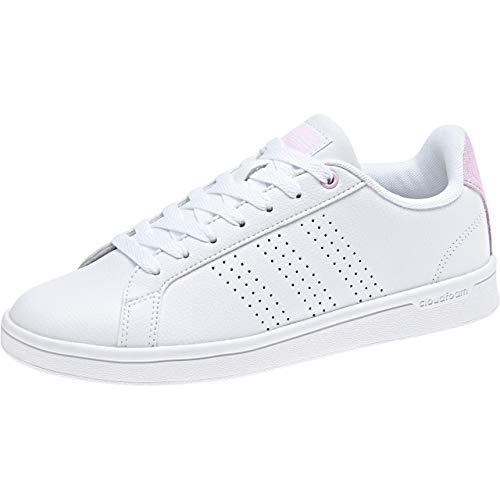 Adidas CF Advantage Cl, Zapatillas de Deporte Mujer, Blanco (Blanco 000), 44 EU