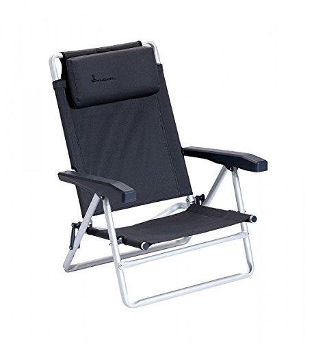 NEU - 2 x Isabella Strandstuhl - mit Tragegurt - Beachchair, dunkelgrau - Vertrieb Holly Produkte STABIELO - NUR so Lange Vorrat reicht -