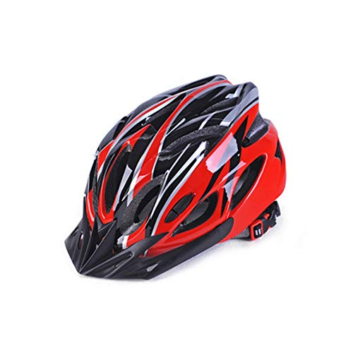 Fahrradhelm mit Abnehmbarer magnetischer Brille, Visier für Radfahren, Mountainbike, verstellbar, leicht, für Erwachsene und Damen L Rot1