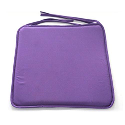 Galette de chaise solide et carrée - 40 cm x 40 cm - Pour salle à manger, jardin, maison, bureau, cuisine free size violet
