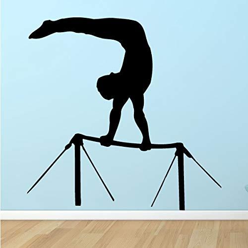 Tianpengyuanshuai Gymnastik hohe Wandtattoos Sport Wandaufkleber Gymnastik Turnhalle Dekoration Wettbewerb Dekoration 56X56cm