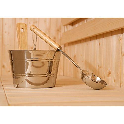 Exklusives Aufguss-Set Edelstahl für Sauna
