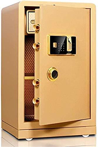LZRZBH Sicherheit Sicheres Kabinett Sicher 60cm hoch Home Office Elektronisches Passwort Fingerabdruck Halbschrank Safe for die ID-Papiere, A4 Dokumente, Laptop Computer, Juwelen - 60x36x40cm