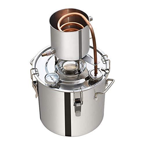 Moonshine Still Distiller Máquina de Agua destilada Inoxidable para destilación de Alcohol Destilador de Alcohol de Vino Agua Aceite Brandy Brewing, 50L