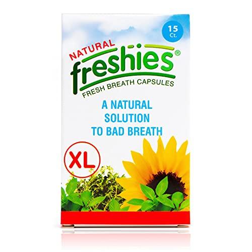 Freshies Gel Capsules for Bad Breath- Organic Peppermint and Parsley Oil Stomach Mint Breath Fresheners- Keto Friendly- Fresh Breath for 3+ Hours- XL