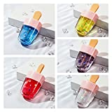Ice Cream Shape Lip Gloss, 5Colors Set Liquid Lipstick, Long Lasting Waterproof Non-stick Cup, Non-fading Lip Cream,Many Colors Available,for Women,Girl (Type A)