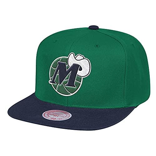 Mitchell & Ness Wool Dallas Mavericks - Gorra, color verde y azul