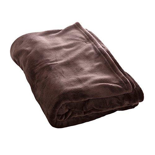 アイリスプラザ fondan 毛布 シングル プレミアムマイクロファイバー 洗える 静電気防止 敬老の日 ギフト 特製BOX入り とろけるような肌触り エアコン対策 秋冬 ブランケット 品質保証書付 140×200cm 無地 ブラウン
