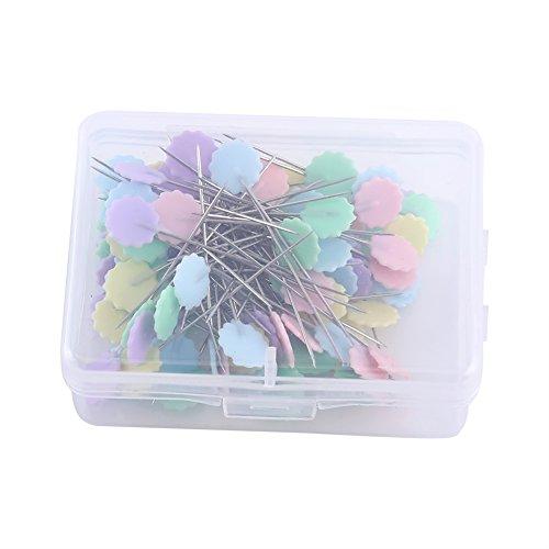 100pcs patchwork pins Flower Head pins Sewing knitting Needle pins Sewing quilting accessori fai da te strumenti artigianali 2# Flower 2