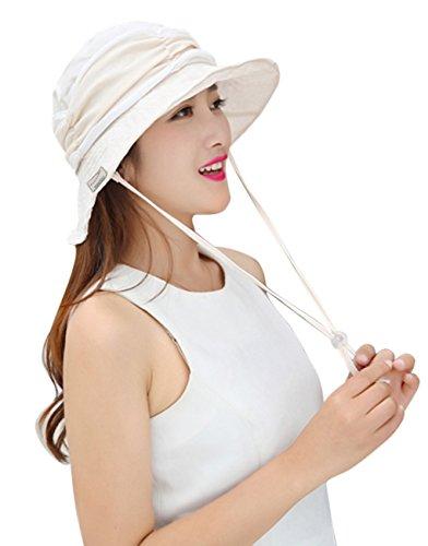 YJZQ Damen Sonnenhüte Strand Hut Faltbar Eimer Hut mit abnehmbarem Schleier Anti-UV-Hut UPF 50+ Fashion Sonnenschutz Anti- Biene Moskito Gesicht Schutz Kopfbedeckung