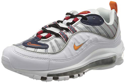 Nike W Air MAX 98 PRM, Zapatillas para Correr para Mujer, White Starfish Wolf Grey Gym Red, 40.5 EU