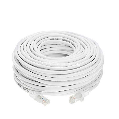 Cables Direct Online Snagless Cat6 Ethernet Network Patch Cable White 75 Feet