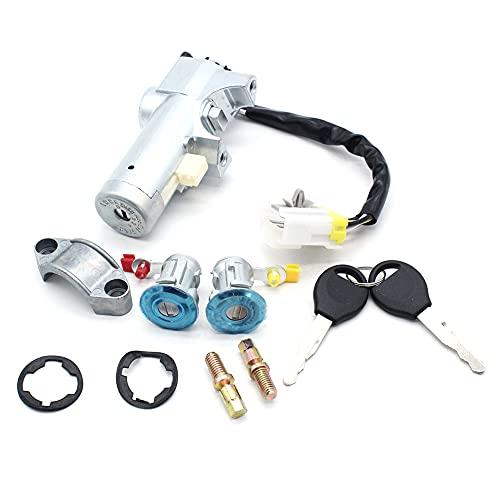 InnerSetting Interruptor de encendido de puerta con 3 cerraduras + 2 llaves para Nissan Navara D22 1997-2006