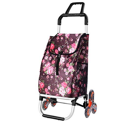 Einkaufswagen, Leichter Lebensmittelgeschäft-Einkaufskleinwagen Faltbarer Tragbarer Laufkatze-Haushalts G8 (Farbe : D)